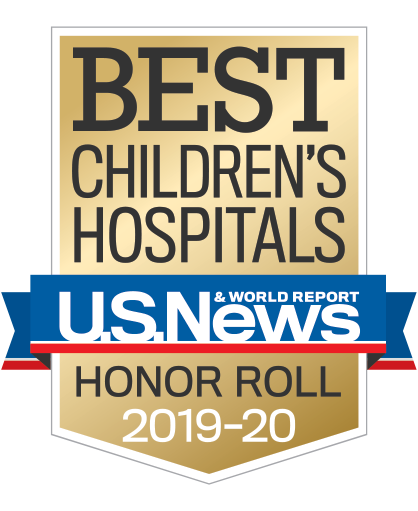 U.S. News & World Report Best Children's Hospitals gold badge