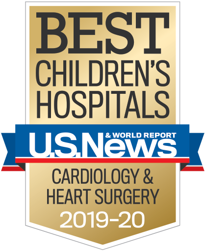 U.S. News & World Report Best Children's Hospitals gold badge